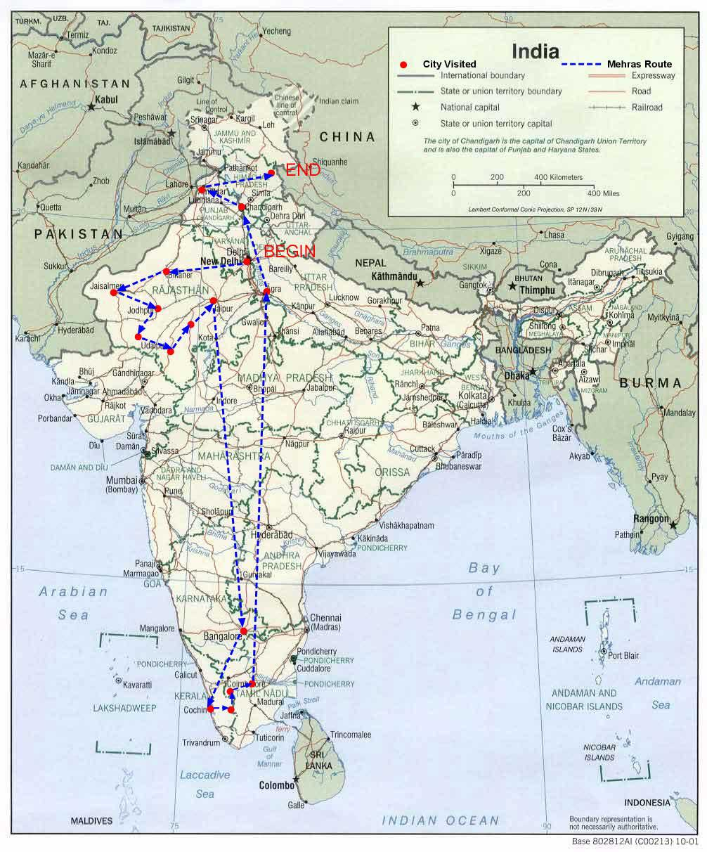Mehras Indian Route