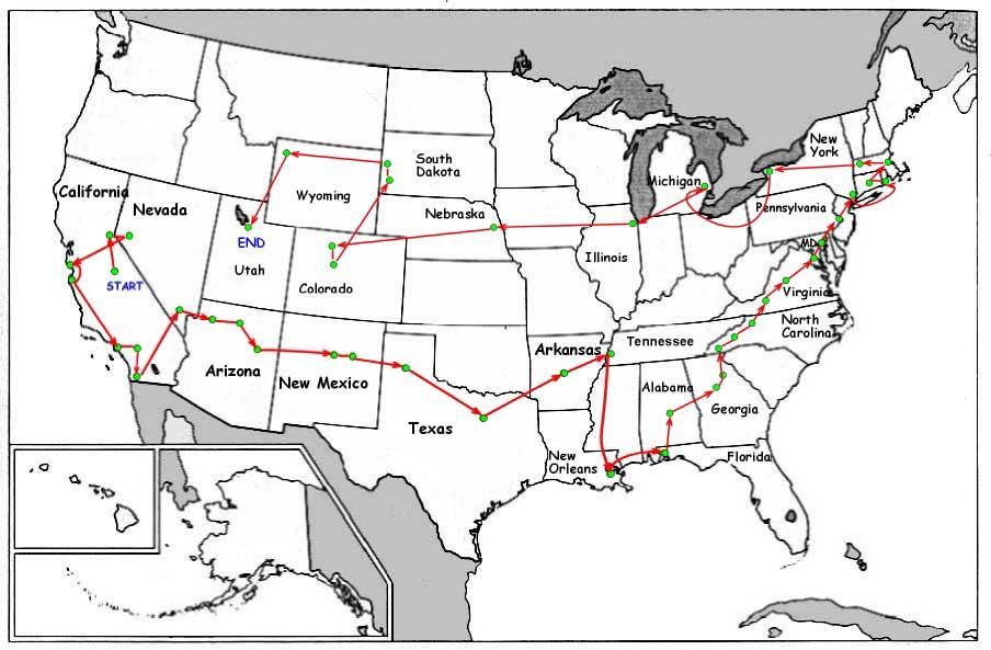 US Road Trip - Us road map image